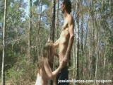 סרט אהבה יפה ומשגע מאוד סקס ביער